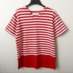 Bechamel Striped Short Sleeve Tunic